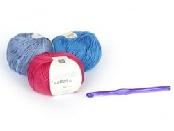 Crochet fluo 8 mm - Plastique