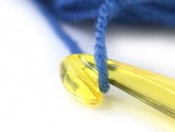 Crochet fluo 9 mm - Plastique