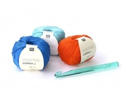 Neon-coloured crochet hook (12 mm) - Plastic