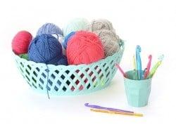 Crochet fluo 12 mm - Plastique