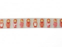 Acheter 1m ruban tissé 16 mm - Poupées russes 006 - 2,39€ en ligne sur La Petite Epicerie - 100% Loisirs créatifs