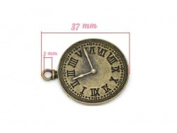1 wall clock charm - bronze-coloured