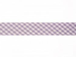 1m biais 20mm tissé vichy - violet 088  - 1