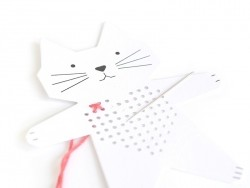 8 Cartons à broder -Chien Chat Cheval et Escargot