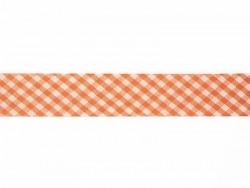 1m biais 20mm tissé vichy - orange 083  - 1