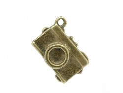 1 bronze-coloured tourist / camera charm