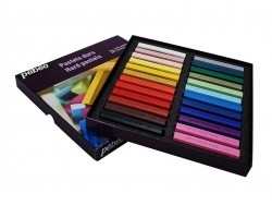 Coffret 12 pastels secs - couleurs assorties