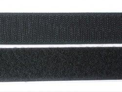 10cm velcro autocollant 25mm  - Noir 014