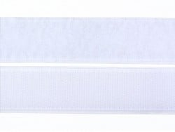 10cm velcro 25mm  - Blanc 001  - 1