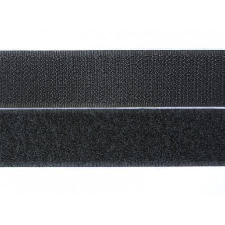 10cm velcro 25mm  - Noir 014  - 1