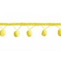 1m Galon de pompons - jaune 201