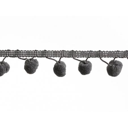 Pom pom trim (1 m) - grey (colour no. 033)