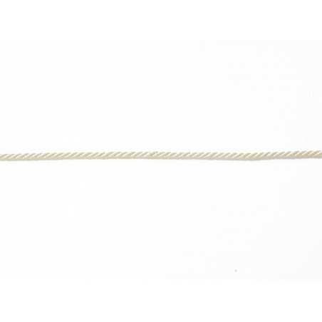 "Bobine 2m de ruban fantaisie ""cordon"" 3 mm - écru 051"
