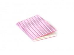 Acheter Petit carnet avec couverture Zig Zag - Rose fluo - 3,60€ en ligne sur La Petite Epicerie - 100% Loisirs créatifs