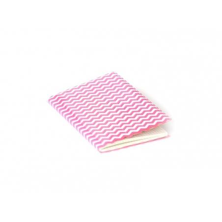 Petit carnet avec couverture Zig Zag - Rose fluo Rico Design - 1