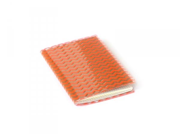 Petit carnet avec couverture Zig Zag - Orange fluo