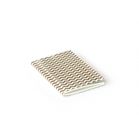 Petit carnet avec couverture Zig Zag - Blanc