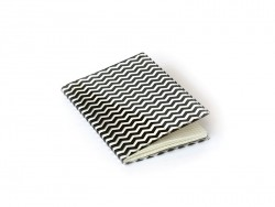 Petit carnet avec couverture Zig Zag - Noir Rico Design - 1