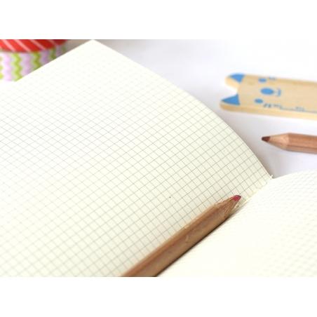 Petit carnet avec couverture Zig Zag - Rose fluo Rico Design - 4