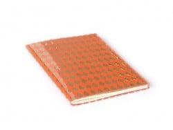 Card with diamonds on its cover - neon orange