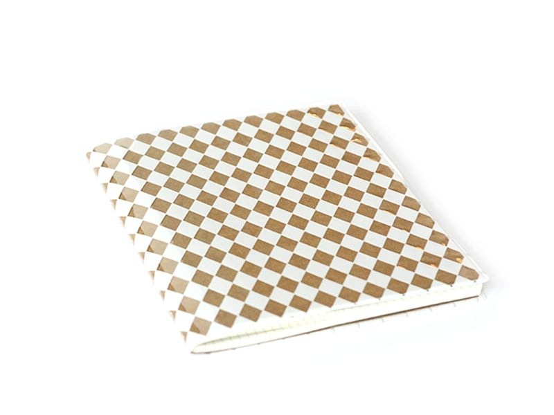 Card with diamonds on its cover - white