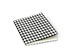 Card with diamonds on its cover - black