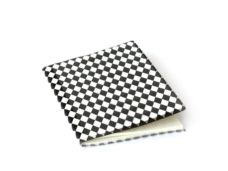 Carnet avec couverture Losanges - Noir