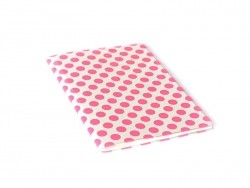 Grand carnet avec couverture à pois - Rose fluo Rico Design - 1