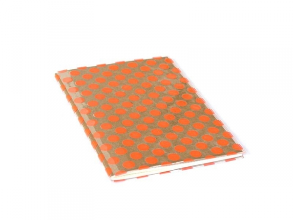 Big notebook with a dotted cover - neon orange