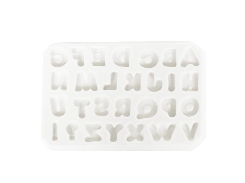 Silicone mould - Alphabet