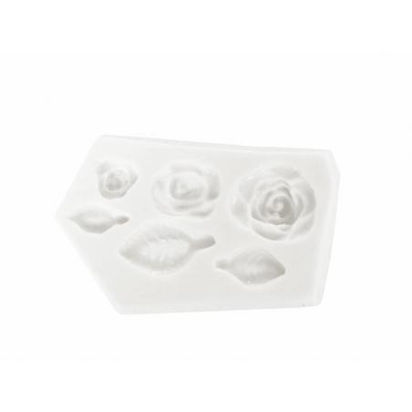 Acheter Moule en silicone Roses et feuilles - 9,10€ en ligne sur La Petite Epicerie - 100% Loisirs créatifs