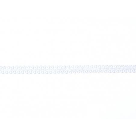 "Bobine 2m de ruban fantaisie ""boucle"" 8 mm - blanc 001"