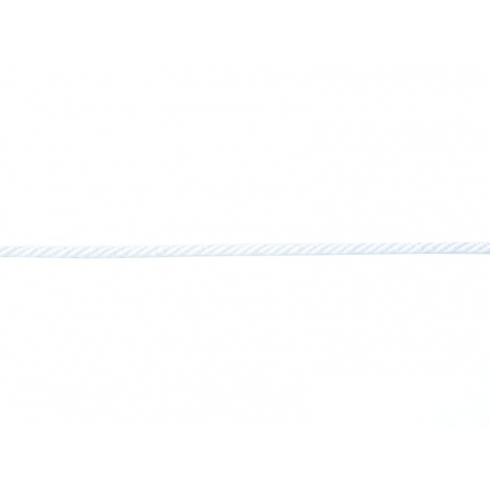 "Bobine 2m de ruban fantaisie ""cordon"" 3 mm - blanc 001"