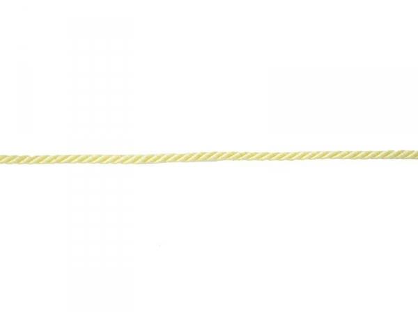 "Bobine 2m de ruban fantaisie ""cordon"" 3 mm - jaune 079"