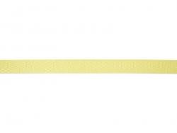 "Bobine 2m de ruban gros grain ""serge"" 10 mm - jaune 079"