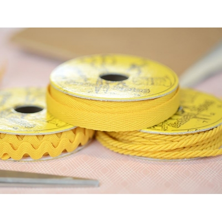 Woven Grosgrain ribbon spool (2 m) - Twill (10 mm) - amber (colour no. 081)