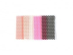 Small pencil case with a zigzag pattern - white