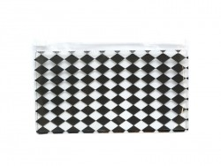 Pencil case with a diamond pattern - black