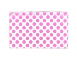Big pencil case with dots - pink