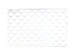 Big pencil case with dots - white