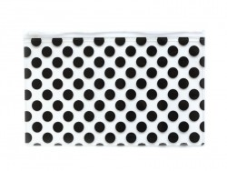 Big pencil case with dots - black