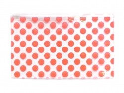 Big pencil case with dots - orange