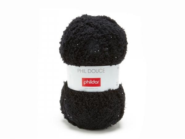 Laine à tricoter Phil Douce - Noir