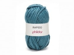 "Knitting wool - ""Rapido"" - Peacock blue"