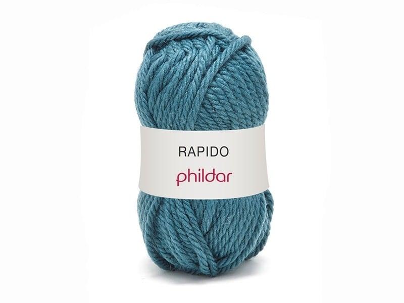 "Knitting wool - ""Rapido"" - Peacock blue"