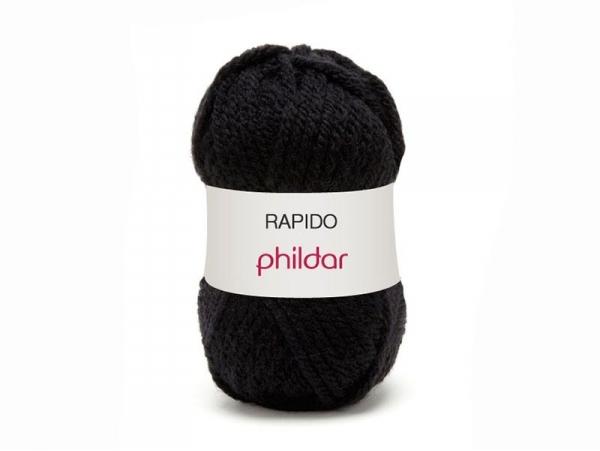 Acheter Laine à tricoter Rapido - Noir - 3,19€ en ligne sur La Petite Epicerie - Loisirs créatifs
