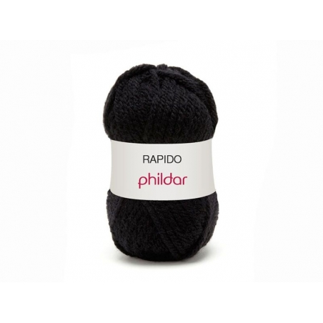"Knitting wool - ""Rapido"" - Noir"