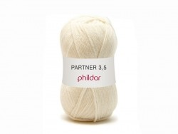 "Knitting wool - ""Partner 3.5"" - Off-white"