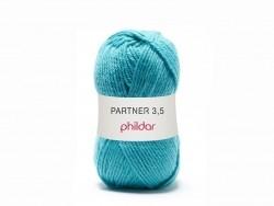 Laine à tricoter Partner 3.5 - Bleu Piscine