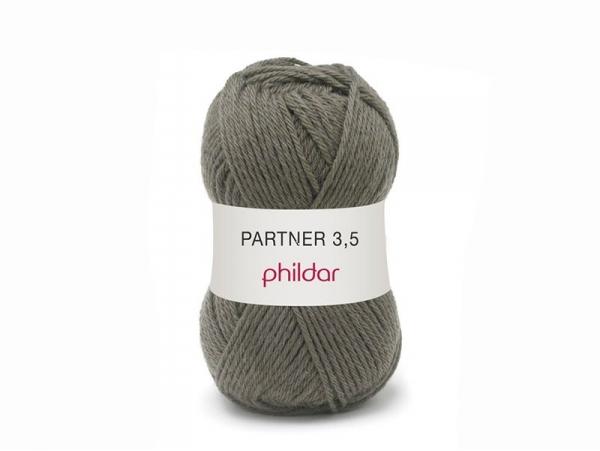 """Knitting wool - """"Partner 3.5"""" - Brown"""